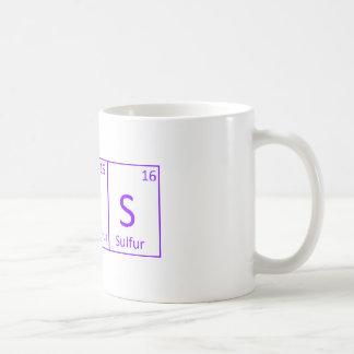 """Die Rechtschreibung """"bedeckt"""" vom Periodensystem Kaffeetasse"""