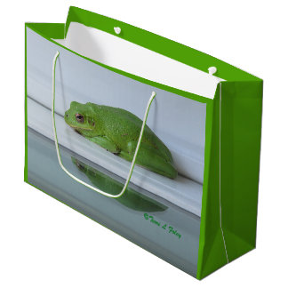 Die Reflexions-Geschenk-Tasche des Frosches Große Geschenktüte