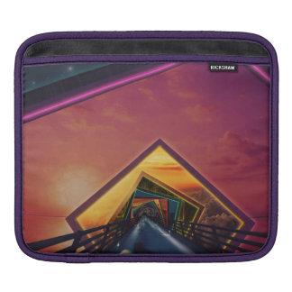 Die Regenbogen-Brücke der tausend Fraktal-Farben Sleeve Für iPads
