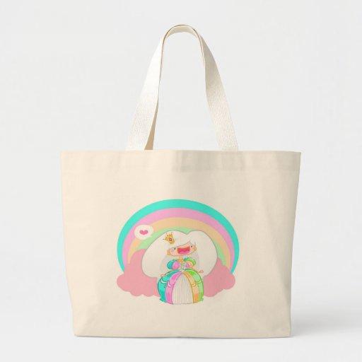 Die Regenbogen-Prinzessin Leinentasche