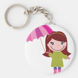 Die regnerischen Mädchen-T - Shirts Schlüsselanhänger