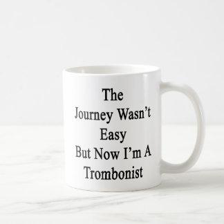 Die Reise war nicht einfach, aber jetzt bin ich Kaffeetasse