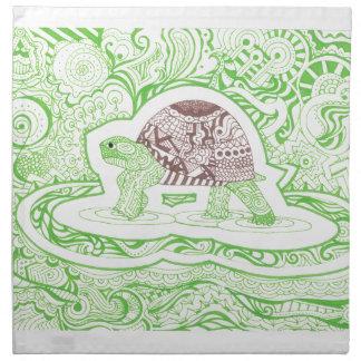 Die reisende Schildkröte Stoffserviette