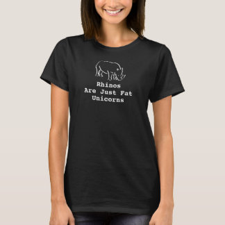 Die Rhinos der Frauen sind gerade fette Einhörner T-Shirt