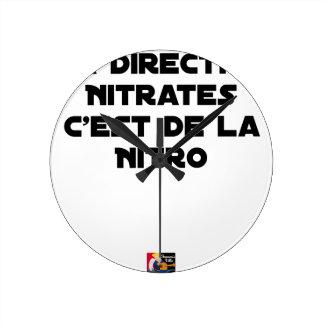 Die Richtlinie Nitrate, ist es von Nitro - Spiele Runde Wanduhr