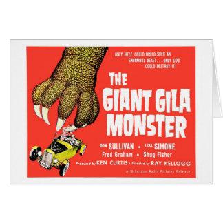 Die riesige Gila-Krustenechse- Karte