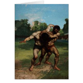 Die Ringkämpfer durch Gustave Courbet 1862 Grußkarte