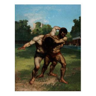 Die Ringkämpfer durch Gustave Courbet 1862 Postkarte