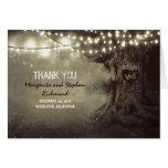 die romantischen wedding Lichter des alten Baums Karten