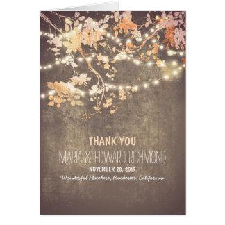Die romantischen wedding Schnurlichter danken Mitteilungskarte