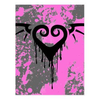 die romantisches Herz Postkarte