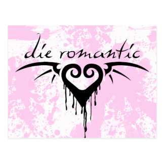 die romantisches postkarte