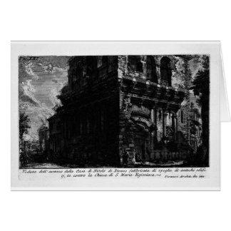 Die römischen Antiquitäten, T. 1, Platte XX. Casa Karte