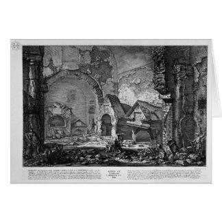 Die römischen Antiquitäten, T. 2, Plan der Grußkarte