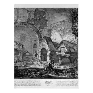 Die römischen Antiquitäten, T. 2, Plan der Postkarten