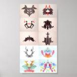 Die Rorschach Test-Tinte befleckt allen 10 Teller  Plakate