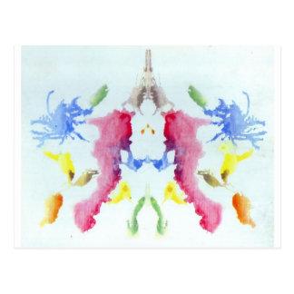 Die Rorschach Test-Tinte befleckt Krabben-Hummer Postkarte