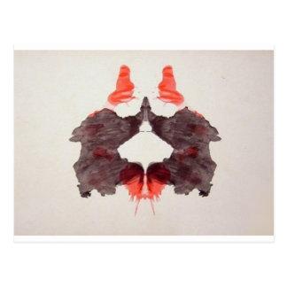 Die Rorschach Test-Tinte befleckt Platte 2 zwei Postkarte
