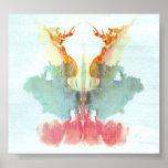 Die Rorschach Test-Tinte befleckt Platte 9 Posterdrucke