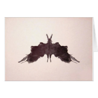 Die Rorschach Test-Tinte befleckt Schläger-Motte Karte