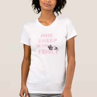Die rosa Schaf-Damen zerstörten T - Shirt