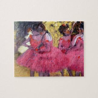 Die rosa Tänzer, vor dem Ballett durch Edgar Degas Puzzle