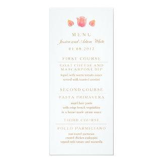Die rosa Tulpe-Hochzeits-Menü-Karte 10,2 X 23,5 Cm Einladungskarte