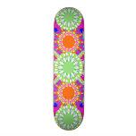 Die rosa u. grüne Skateboard-Plattform des Personalisierte Skatedecks