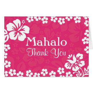 Die rosa Wedding Strand-Blumen danken Ihnen Karten