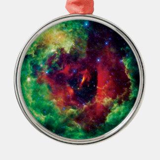 Die Rosetta Nebelfleck NASA-Raum-Foto Silbernes Ornament
