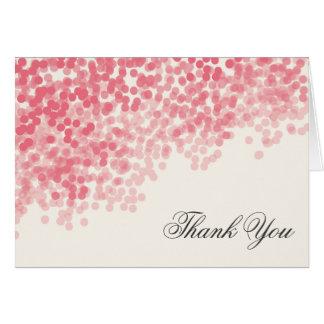 Die rosige helle elegante Dusche danken Ihnen Karte