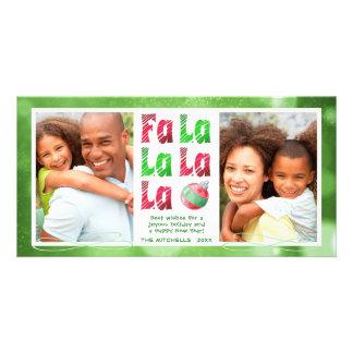 Die rote FaLaLa Watercolor-Bürste u. grünen Foto 2 Karte