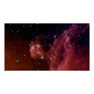 Die rote Himmel-Wolke NASA des Staubes Sig07-006 Poster