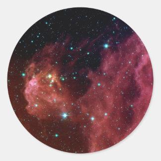 Die rote Himmel-Wolke NASA des Staubes Sig07-006 Runder Aufkleber