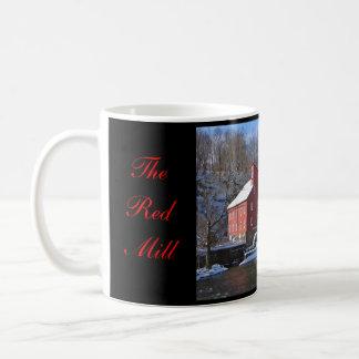 Die rote MühlTasse Kaffeetasse