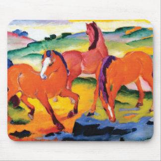 Die roten Pferde durch Franz Marc Mauspad