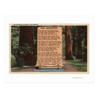 Die Rotholz-Landstraße, Gedicht durch Strauss Postkarte