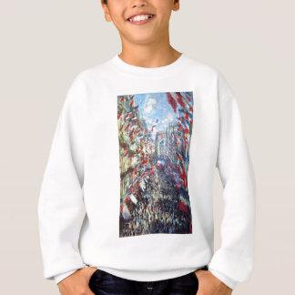 Die Rue Montorgueil, Paris durch Claude Monet Sweatshirt