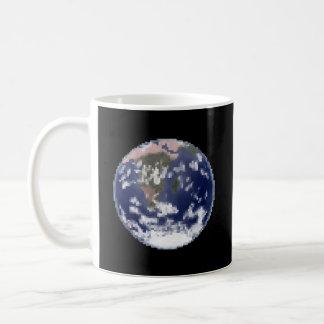 Die ruhige Erdpixel-Kunst-Kaffee-Tasse Kaffeetasse