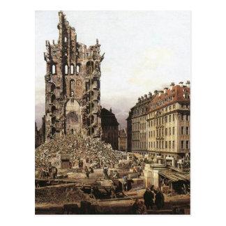 Die Ruinen des alten Kreuzkirche, Dresden durch Postkarte