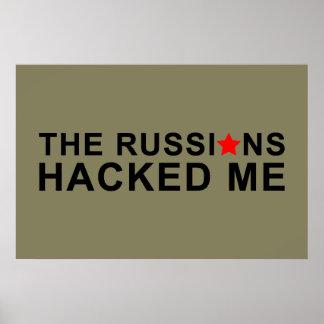 die Russen zerhackten mich Poster