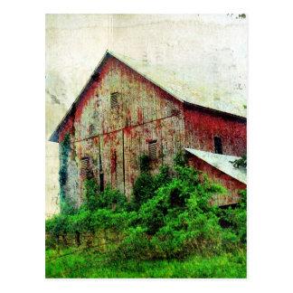 Die rustikale rote Scheune Postkarte