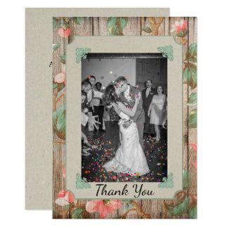 Die rustikalen Wedding Frühlings-Blüten danken Karte