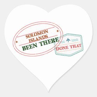 Die Salomonen dort getan dem Herz-Aufkleber