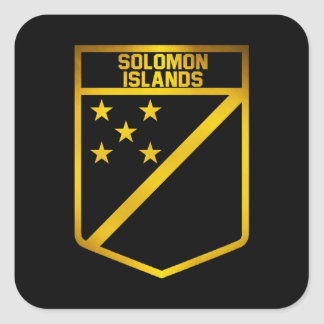 Die Salomonen-Emblem Quadratischer Aufkleber