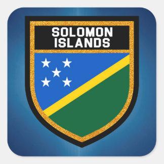 Die Salomonen-Flagge Quadratischer Aufkleber