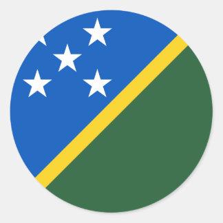 Die Salomonen-Flagge Runder Aufkleber