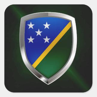 Die Salomonen-metallisches Emblem Quadratischer Aufkleber