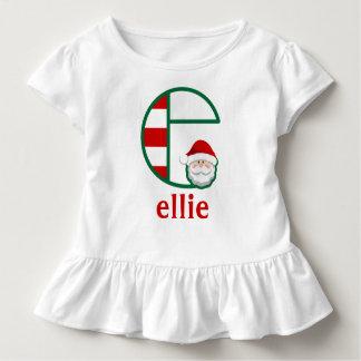 Die Sankt-Weihnachtsrüsche-Shirtmonogramm e des Kleinkind T-shirt
