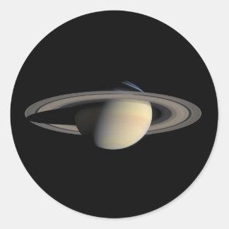 Die Saturn-Planet NASA Runder Aufkleber
